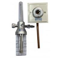 """Y-002 Увлажнитель кислорода """"МЕДИКА"""" с расходомером и настенным газовым клапаном (кислородной розеткой)"""