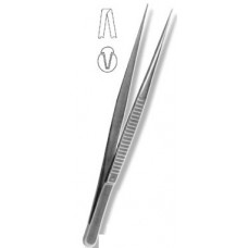 П-72 Serrated forceps for electrocautery with a tooth 200 mm.