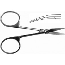 H-22 Scissors eye vertically curved blunt 100mm.