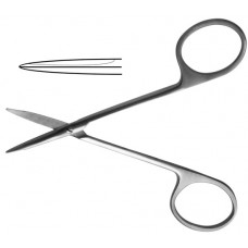 H-34-1 Scissors 110 mm straight blunt cornea.