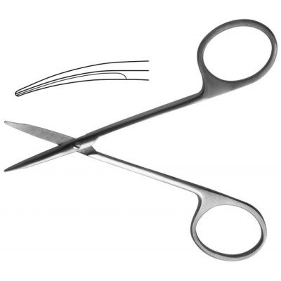 H-34 Scissors 110 mm corneal vertically curved blunt.