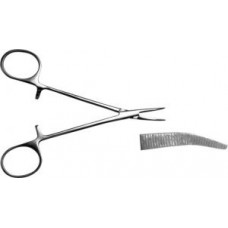 З-121 Curved on flat hemostatic «Mosquito» forceps for newborn and early age infants 125mm.