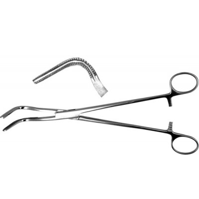 З-28 Bronchus clamp, mid-size 238 mm.
