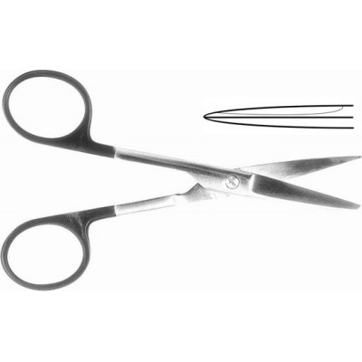 H-70 Scissors medical Carbide reinforced with one sharp end straight 140 mm.