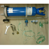 Oxygen cylinder (oxygen inhaler)  in volume of 8 litres