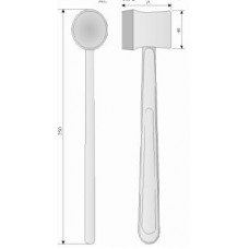 ОХ 4-127 Hammer surgical metal with removable rubber lining.