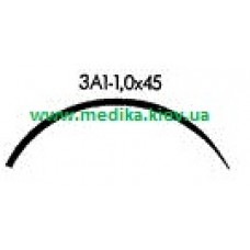 3A1 1.0 x 45 Needle curved surgical  3/8 circle.