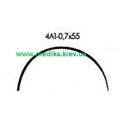 4A1 0.7 x 55 Needle curved surgical  4/8 circle.