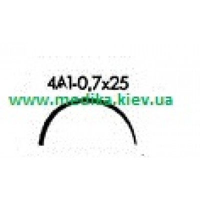 4A1 0.7 x 25 Needle curved surgical  4/8 circle.