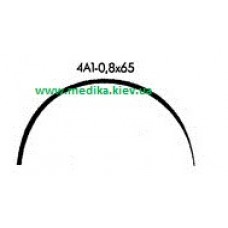 4A1 0.8 x 65 Needle curved surgical  4/8 circle.