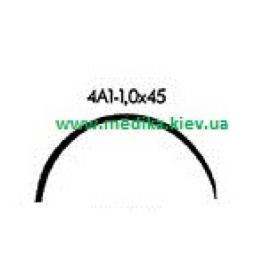 4A1 1.0 x 45 Needle curved surgical  4/8 circle.