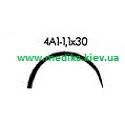 4A1 1.1 x 30 Needle curved surgical  4/8 circle.