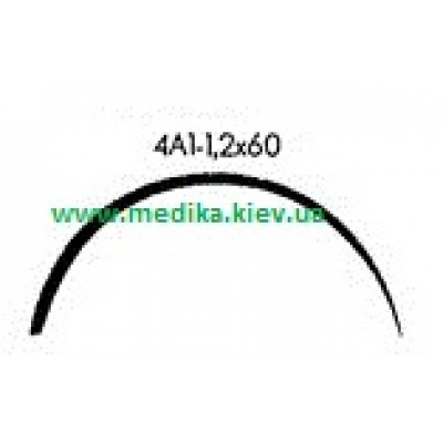 4A1 1.2 x 60 Needle curved surgical  4/8 circle.