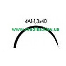 4A1 1.3 x 40 Needle curved surgical  4/8 circle.