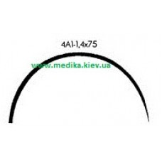 4A1 1.4 x 75 Needle curved surgical  4/8 circle.