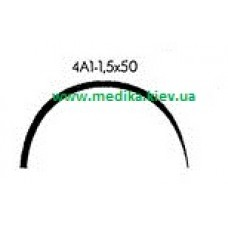4A1 1.5 x 50 Needle curved surgical  4/8 circle.