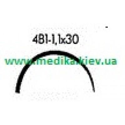 4В1 1.1 x 30 Needle curved surgical  4/8 circle.