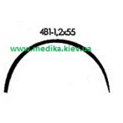 4В1 1.2 x 55 Needle curved surgical  4/8 circle.