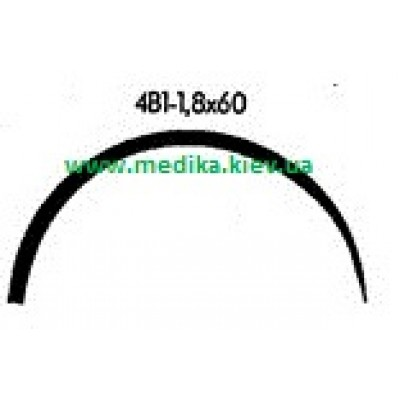 4В1 1.8 x 60 Needle curved surgical  4/8 circle.