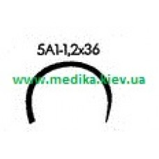 5A1 1.2 x 36 Needle curved surgical  5/8 circle.