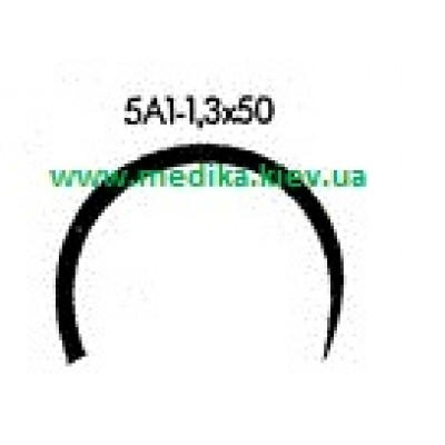 5A1 1.3 x 50 Needle curved surgical  5/8 circle.
