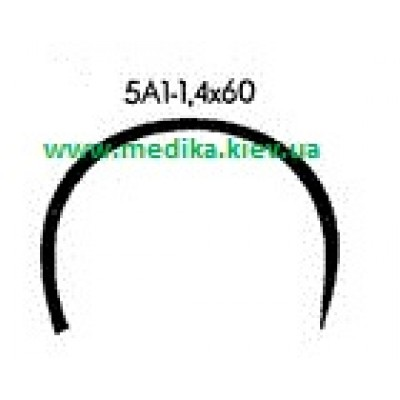 5A1 1.4 x 60 Needle curved surgical  5/8 circle.