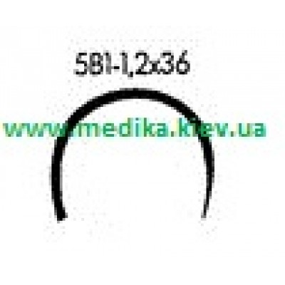 5В1 1.2 x 36 Needle curved surgical  5/8 circle.