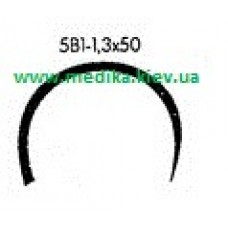 5В1 1.3 x 50 Needle curved surgical  5/8 circle.
