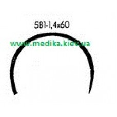 5В1 1.4 x 60 Needle curved surgical  5/8 circle.