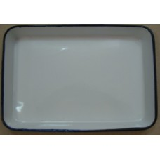 ЛУЭ-305 Rectangular tray enameled  300 x 250 x 35 mm.