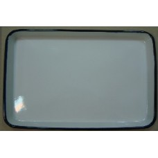 ЛУЭ-400 Rectangular tray enameled  400 x 300 x 35 mm.