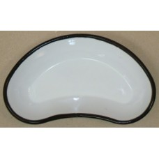 ЛОЭ-260 Kidney-shaped enamel  tray 260 x 140x40 mm.