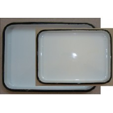 ЛУЭК- 130 Rectangular tray with enameled  lid 130 x 180 x 30 mm.