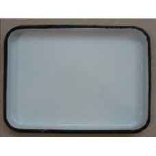 ЛУЭ-130 Rectangular tray enameled  130 x 180 x 25 mm.