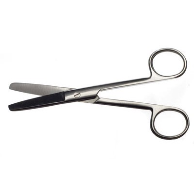 H-5 Scissors blunt straight 140 mm.